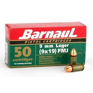 Barnaul 9mm 115gr FMJ