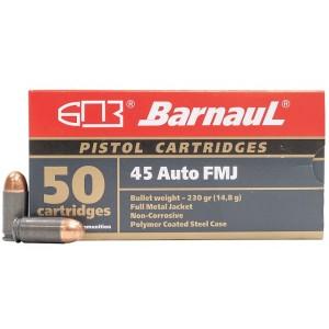 Barnaul 45 ACP 230 Grain FMJ